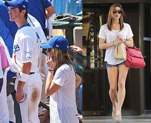 Pictures of Ashley Greene in Short Shorts With Jonas Brothers Including Joe Jonas Boyfriend Rumours at Road Dogs Baseball