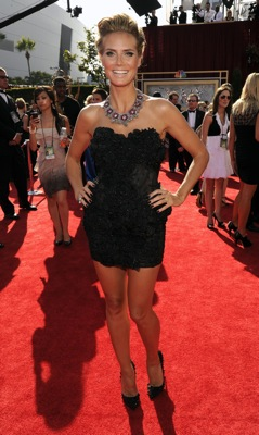 Heidi Klum at the 2010 Primetime Emmys