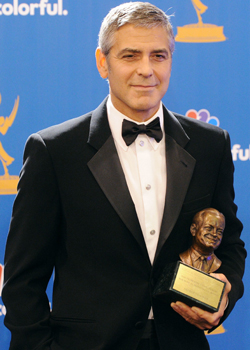 George Clooney Talks Elisabetta, Brad Pitt, and John Krasinski in the Emmys Press Room