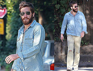 Pictures of Jake Gyllenhaal With Long Beard in LA
