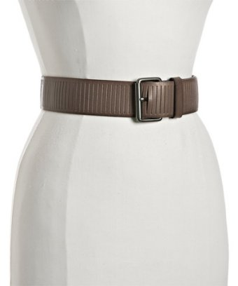 Linea Pelle steel sliced leather belt at Bluefly