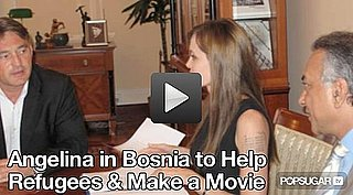 Video: Angelina Jolie's Weekend Trip to Bosnia for A New Movie 2010-08-23 10:02:58
