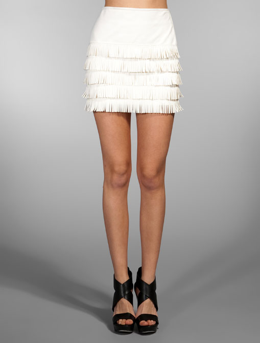 Simone Fringe Leather Skirt ($775)