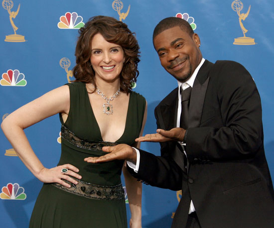 30 Rock co-stars Tina Fey and Tracy Morgan joked around in 2006.