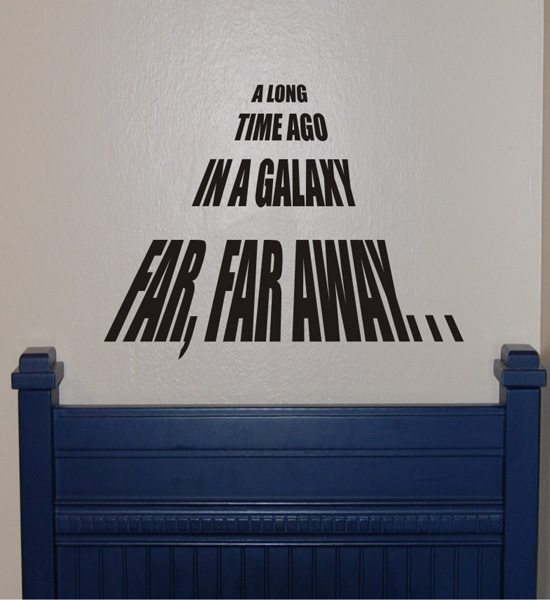 A Long Time Ago Wall Decal