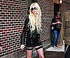 Slide Picture of Taylor Momsen Leaving The Late Show Studio in a Leather Jacket in NYC
