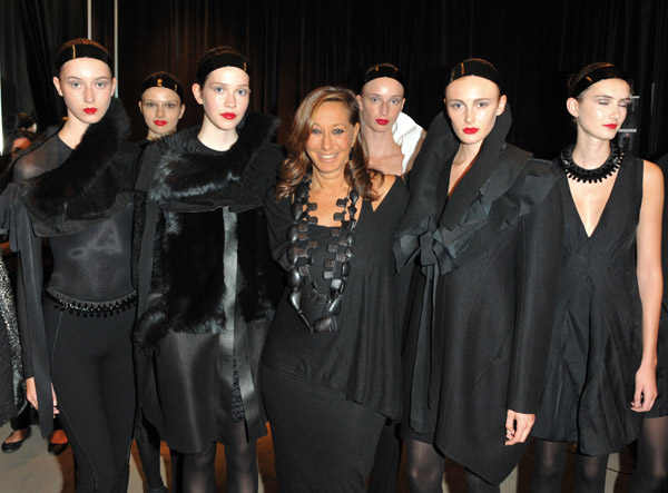 The latest one to pop by Holt Renfrew is Donna Karan, who made an appearance for a runway show recently.