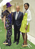 Oscar de la Renta posed with his fabulous models in April.