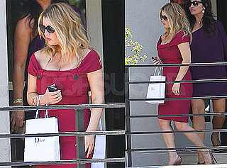 Pictures of Jessica Simpson In a Tight Pink Dress Leaving Sunset Tower in LA