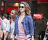 Slide Picture of Keri Russell Filming Running Wilde