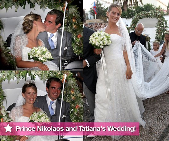 Prince Nikolaos and Tatiana Blatnik's Wedding in Greece With European Royal Families