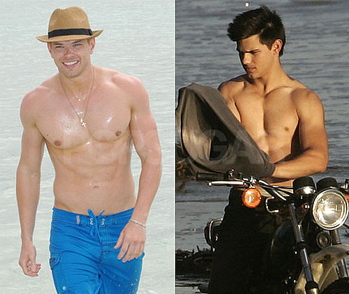 Pictures of Shirtless  Kellan Lutz and Taylor Lautner Shirtless Bracket Finalists