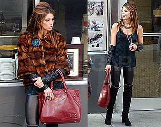 Pictures of Ashley Greene on the Set of LOL in Detroit