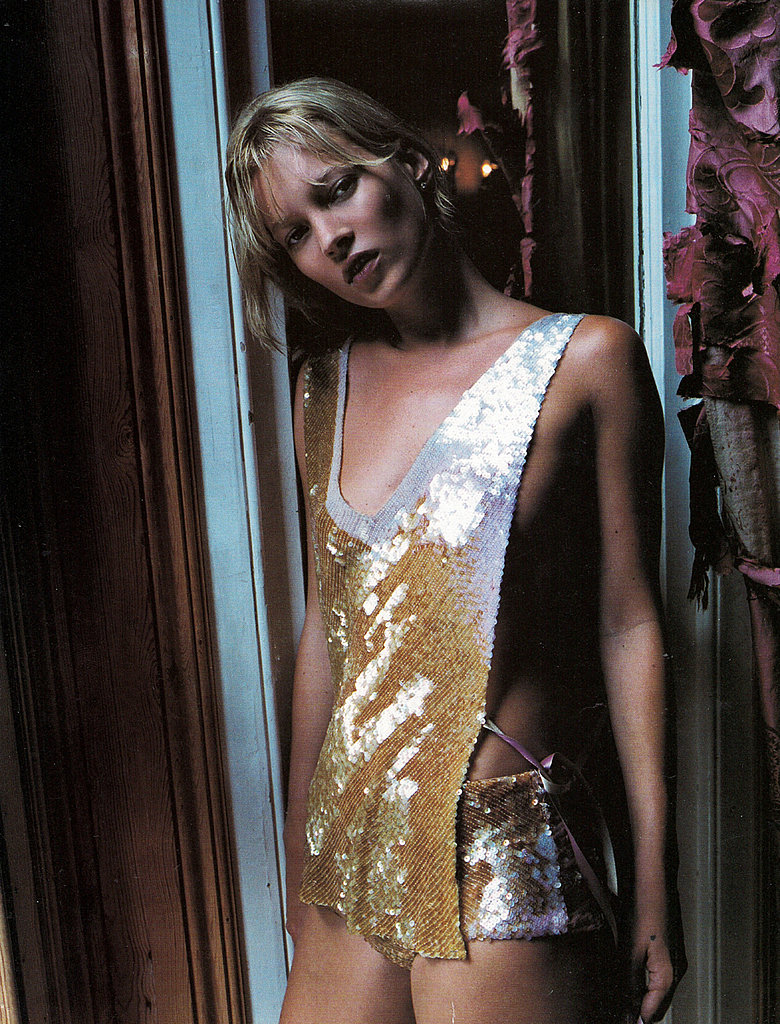 "Kate Moss in ""24-Carat Kate,"" Vogue UK Dec. 2000"