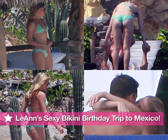 Pictures of LeAnn Rimes in Bikini With Eddie Cibrian Shirtless in Mexico
