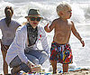 Slide Picture of Gwen Stefani and Zuma at Beach