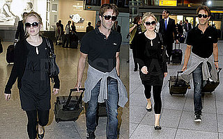 Pictures of Newlywed True Blood Stars Anna Paquin and Stephen Moyer at Heathrow