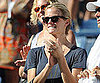 Slide Picture of Brooklyn Decker Watching Andy Roddick at the US Open