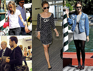 Pictures of Jessica Alba, Natalie Portman, and Benjamin Millepied Traveling to the 2010 Venice Film Festival