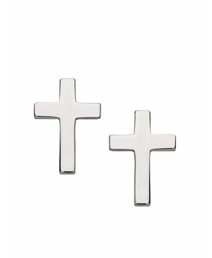 You don't have to be religious to wear these cool Jennifer Zeuner Mini Cross Stud Earrings ($110).