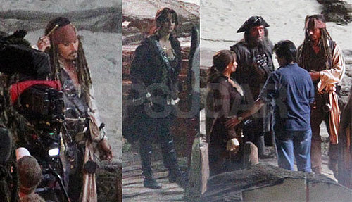 Pictures of Penelope Cruz and Johnny Depp Shooting Pirates of the Caribbean 4