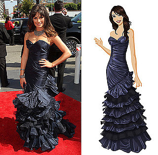 Get Lea Michele's Stunning Emmy Gown on PopSugar's Retail Therapy Game!