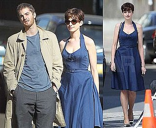 Pictures of Anne Hathaway and Jim Sturgess Filming One Day in Paris