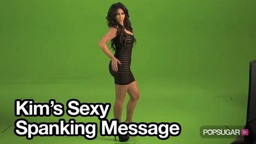 Video of Kim Kardashian Spanking Her Butt For Facebook Video