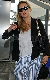 Kate Hudson Carries a Chanel Bag at the London Airport