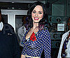 Slide Picture of Katy Perry in a Red, White, and Blue Polka Dot Dress in London
