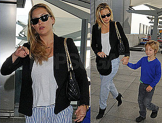 Pictures of Kate Hudson and Ryder Robinson Flying Away From London