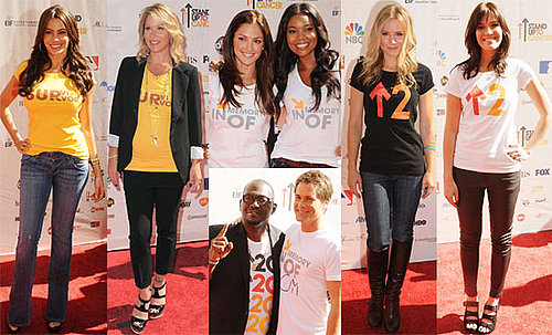 Pictures of Christina Applegate, Rob Lowe, Katie Couric and Cindy Crawford at the Stand Up to Cancer Event