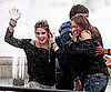 Slide Picture of Ashley Greene and Miley Cyrus on LOL Set in Paris