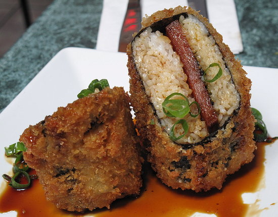 Fried Spam Musubi