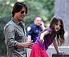 Slide Picture of Tom Cruise and Suri Leaving the Park in NYC
