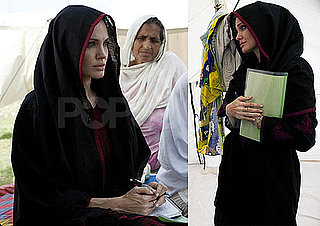 Pictures of Angelina Jolie Helping Flood Survivors in Pakistan