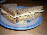 Cheddar, Apple &amp; Almond on Whole Wheat