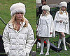 Pictures of January Jones Seeing Double on the Set of X-Men