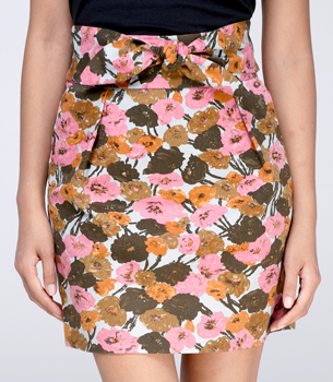 Fred Flare Bow-Front Vines and Valleys Skirt ($44)