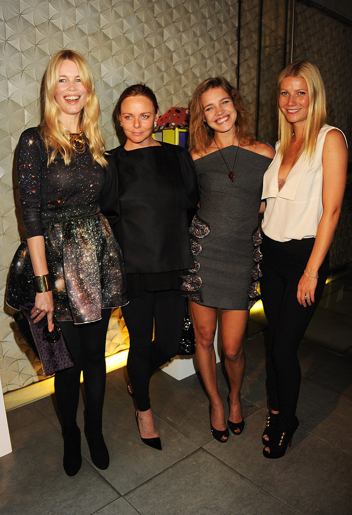Fab foursome: Natalia, Gwyneth, and Claudia step out for Stella's fete in London.
