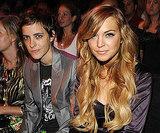 Lindsay Lohan sat next to Samantha Ronson during the 2008 show.