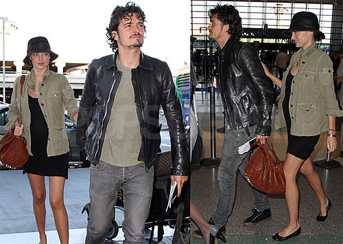 Photos de Miranda Kerr enceinte et d Orlando Bloom a LAX