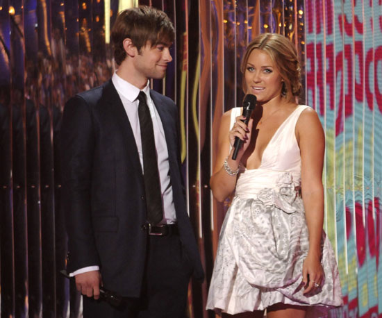 Chace Crawford and Lauren Conrad presented together in 2008.