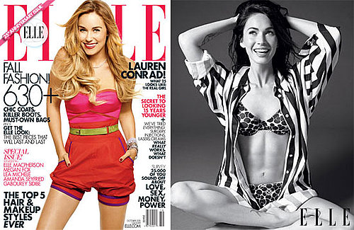 Pictures of Megan Fox's Abs, Lauren Conrad on the Cover of October 2010 Elle Magazine