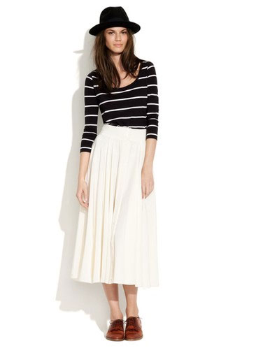 Silk Margot Skirt ($158)