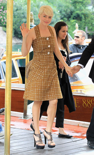 An adorable retro look; Michelle Williams at the Venice Film Festival.