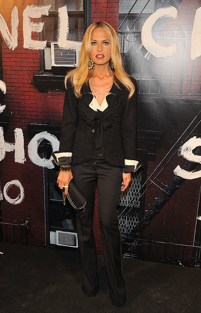 Perfection: Rachel Zoe in black trousers and subtle white trim.