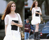Photos of Coco Rocha in White Dress in New York City
