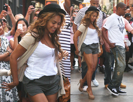 Pictures of Jay-Z and Beyonce in NYC