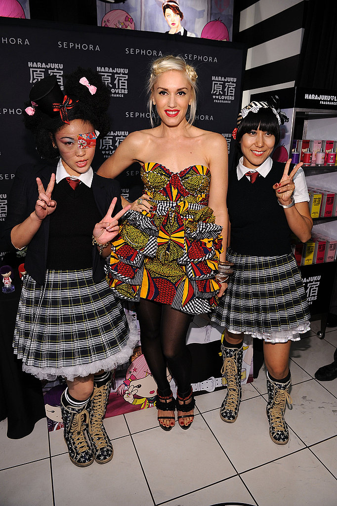 Gwen Stefani sets up shop at Sephora in NYC.